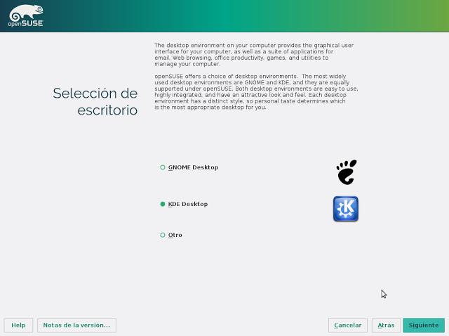 Gnome y KDE son las opciones más populares
